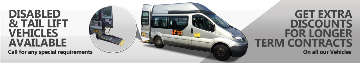 247 Coaches - Tail Lift Vehicles Available